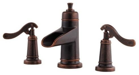 Pfister GT49-YP1U Rustic Bronze Ashfield Ashfield Widespread Waterfall contemporary-bathroom-faucets-and-showerheads