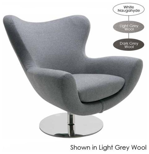 Conner Lounge Chair Dark Grey Wool Modern Armchairs
