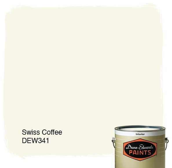 Dunn-Edwards Paints Swiss Coffee DEW341 paints-stains-and-glazes