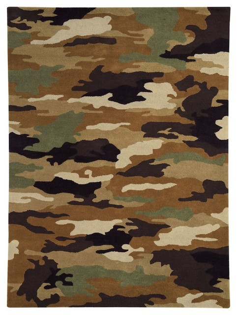 Kids Fantasia 5'x8' Rectangle Army Area Rug contemporary-kids-rugs