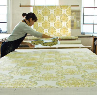 Hand-Blocked Fabric, Galbraith & Paul eclectic-fabric