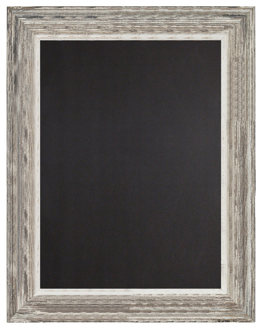 Decorative Woodframed Chalkboard Sign, Antique White