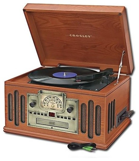 3-Speed Turntable with AM/FM Radio traditional-home-electronics