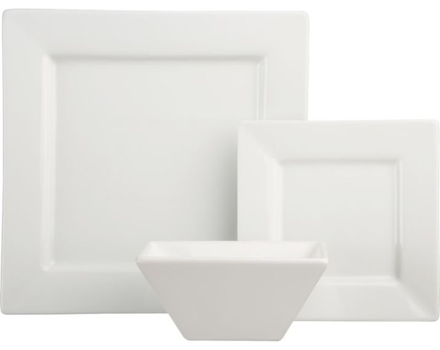 White Square Dinnerware Modern By CB2