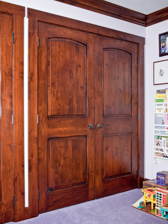 Interior Double Doors - Inteiror Double Doors-Knotty Alder Wood