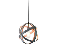 Atom Globe - Small Wine Barrel Ring Lantern rustic-pendant-lighting