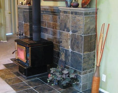 Wood Stove Mantel Designs