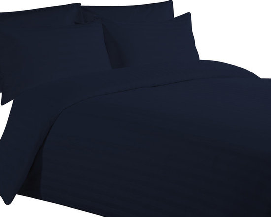 600 TC 15 Deep Pocket Sheet Set with 1 Flat Sheet Strips Navy Blue, Twin XL - You are buying 2 Flat Sheet (66 x 102 inches), 1 Fitted Sheet (39 x 80 inches) and 2 Standard Size Pillowcases (20 x 30 inches) only.