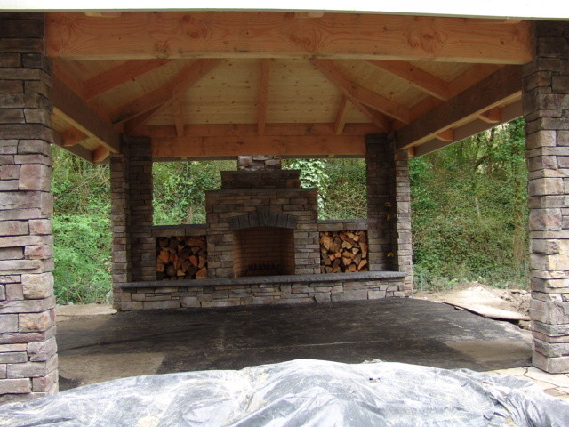Outdoor Fireplace Traditional Patio Portland By