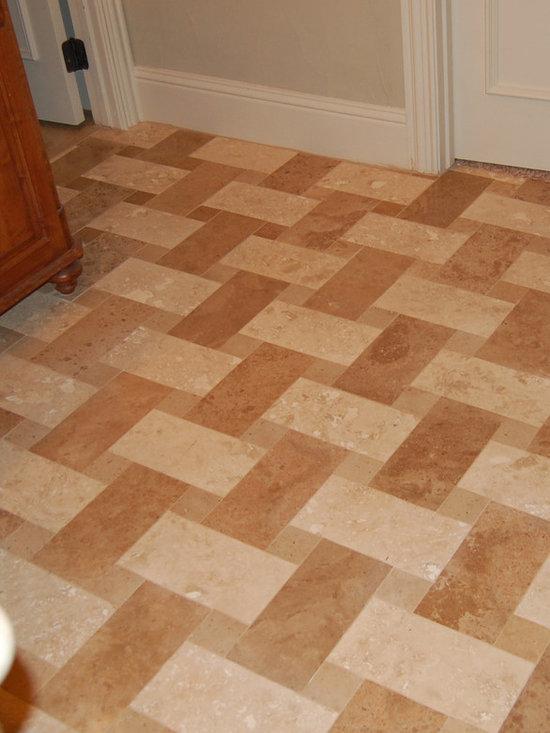 Basket weaving east yorkshire : Basketweave travertine floor home design ideas pictures
