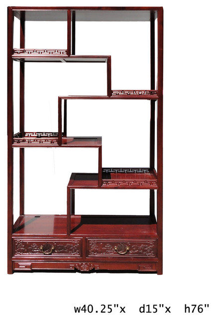 Chinese Rosewood 8 Treasure Curio Display Cabinet - Asian - Furniture - other metro - by Golden ...
