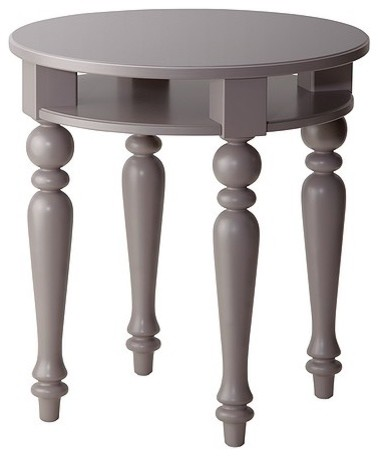 Isala Side Table, Gray contemporary side tables and accent tables