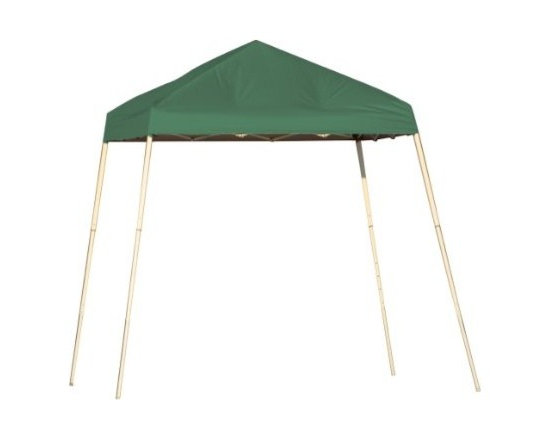 Shelterlogic - Slant Leg Popup Canopy, 8'x8', Green Cover, Carry Bag - • Be ready to play it cool in the shade with our most compact pop-up.