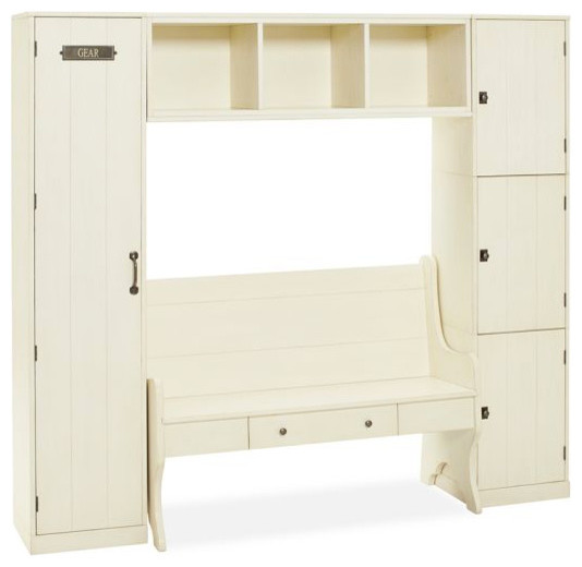 Modular Family Locker Entryway System With Bench - traditional ...