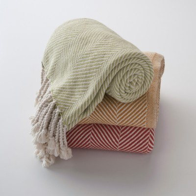 Brahms Mount Cotton Herringbone Throw traditional throws