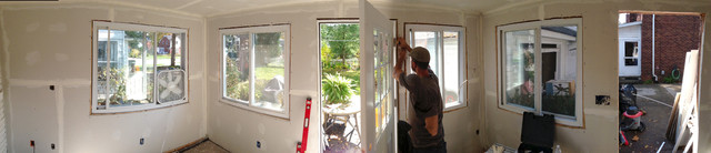 Panoramic View Drywall Buildout traditional