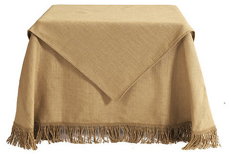 Burlap Folding Table Topper traditional-changing-tables