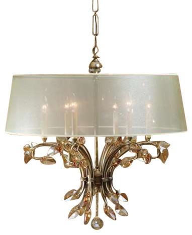 Uttermost Alenya 6 Lt Shade Chandelier contemporary-chandeliers