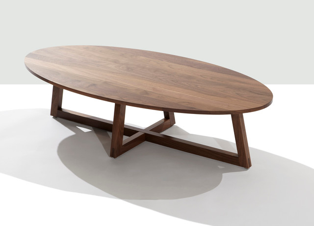 Finn oval coffee table contemporary coffee tables by for Couchtisch holz rund oval