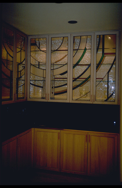 Cabinet Door Inserts/Traditional Stained & Leaded Glass - Contemporary - Dining Room - other ...