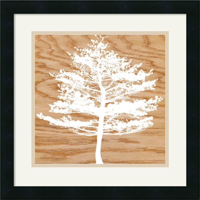 Frosty Tree Framed Print by Erin Clark traditional-prints-and-posters
