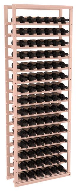 Baker Style Wine Rack Kit in Redwood, White Wash + Satin Finish contemporary-wine-racks