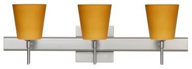 Besa 3SR-513180-SN Amber Matte Canto Wall Light - 22.5W in. Satin Nickel modern-bathroom-lighting-and-vanity-lighting