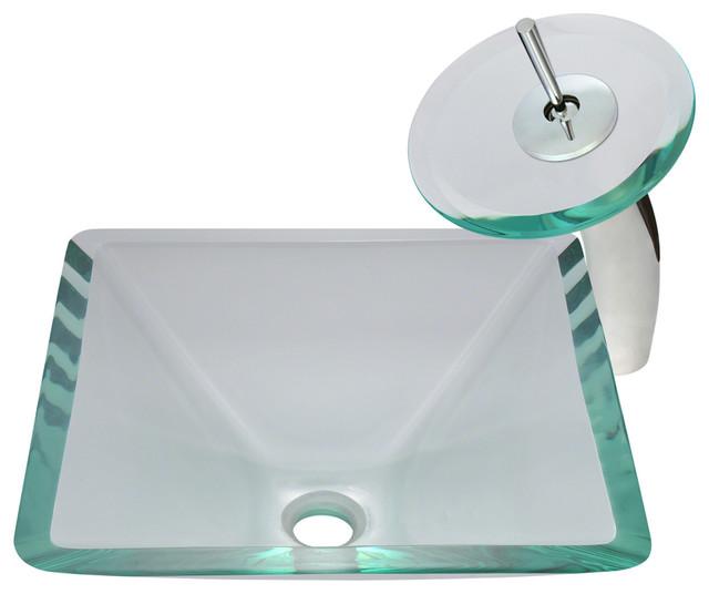 Crystal Glass Sink modern-bathroom-sinks