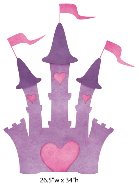 princess castle wall sticker decal large contemporary disney castle wall decal galleryhip com the hippest