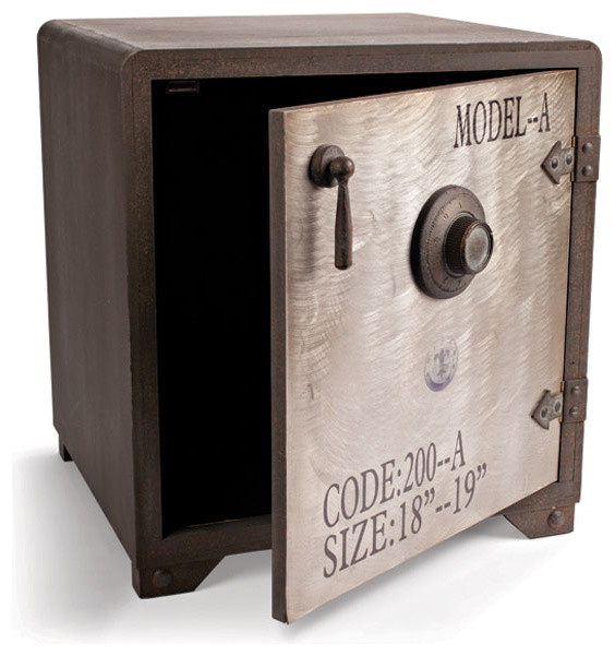 Vintage Safe Style Cabinet - Eclectic - Safes - atlanta - by Iron Accents