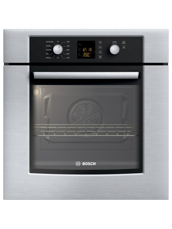 "Bosch 27"" 300 Series Single Wall Oven With Convection, Stainless 