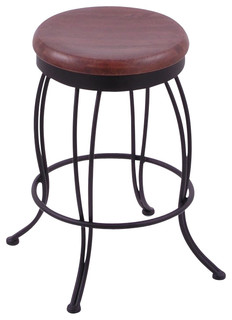 Georgian 25 High Wooden Round Backless Swivel Counter