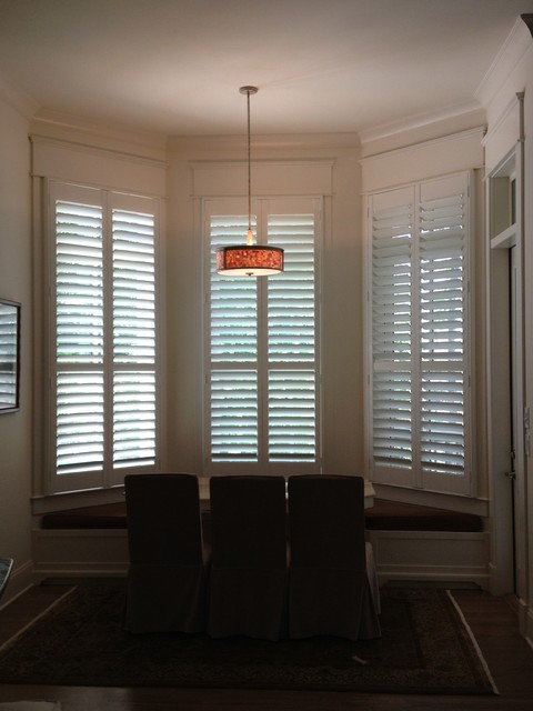 Shutters For Window Coverings beach-style-window-blinds