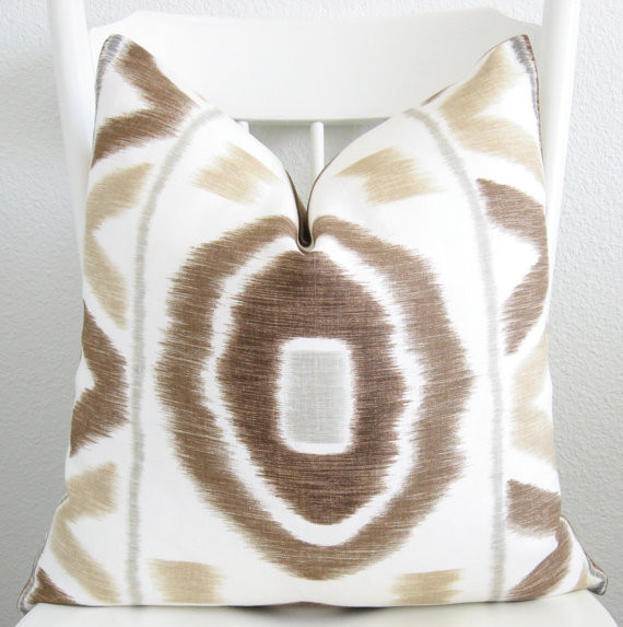 Throw Pillow Ikat by Chic Decor Pillows contemporary-pillows