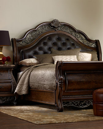 Pepper Scrolls Bedroom Furniture traditional beds