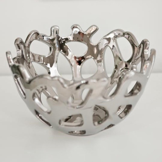 Coral Bowl Silver
