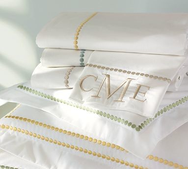 Pearl Embroidered Extra Pillowcases, Set of 2, Standard, Sandalwood traditional-pillowcases-and-shams
