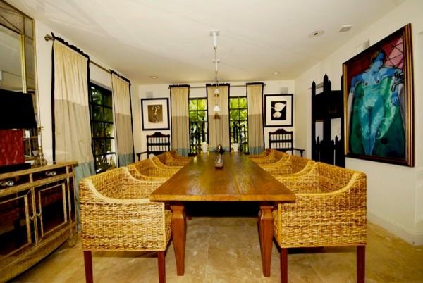 Miami House contemporary-dining-room