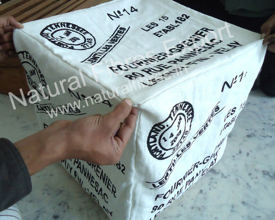 Natural Fibres Export : Fine Furnishing Products - Cotton Pouf by Natural Fibres Export.. new development