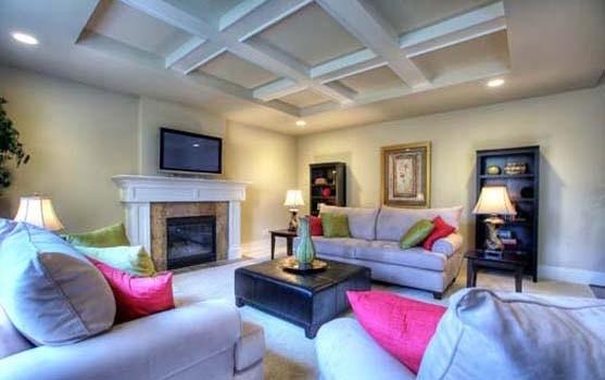 The Madrid. great room 2 by JayMarc Homes, custom home builder in Redmond, Belle modern-family-room