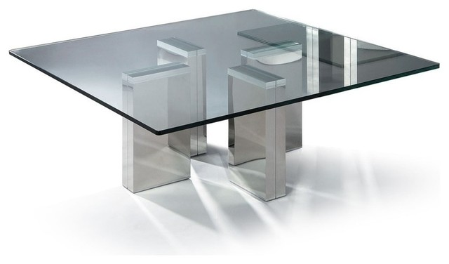 Modern square glass coffee table Urbino modern-coffee-tables