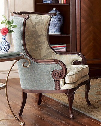 Massoud - Wingback Chair traditional-armchairs-and-accent-chairs