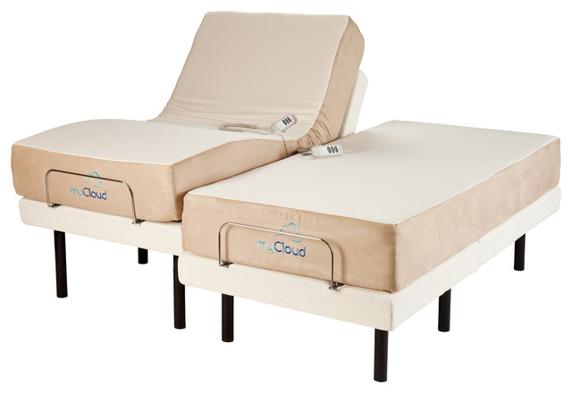 "Adjustable Bed with 10"" Mattress Split Eastern King"