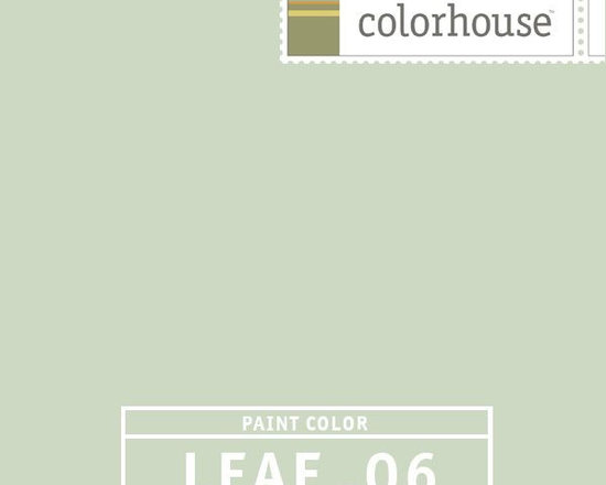 Colorhouse LEAF .06 - Colorhouse LEAF .06: A fresh & clean hue, like laying in a field of fresh cut hay… without the allergies. Creates a spa-like feel, use in bedrooms and bathrooms to create light and airy spaces.
