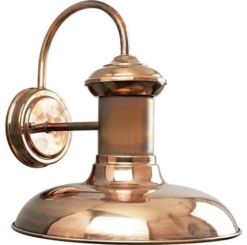 Brookside Copper Outdoor Wall Lantern - Modern - Outdoor Lighting - by Wayfair