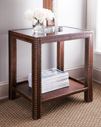 Nailhead Side Table traditional side tables and accent tables