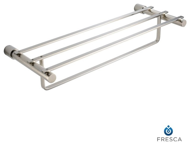 "Fresca Magnifico 23"" Towel Rack - Brushed Nickel modern-towel-racks-and-stands"