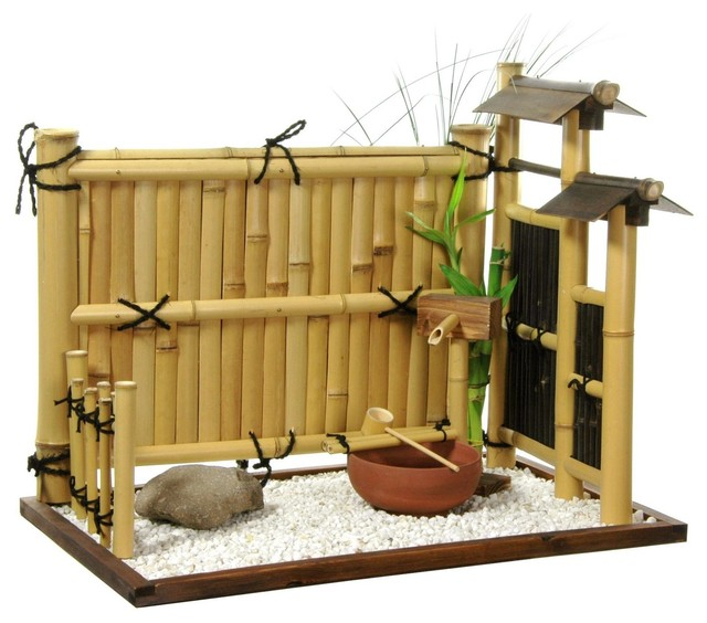 Zen Bamboo Mini Rock Garden Traditional Home Decor By Oriental Furniture