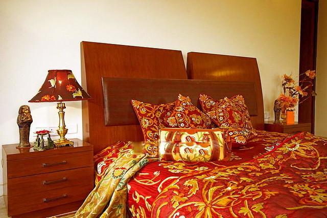 Crewel Bedding Art Nouveau Burgundy Silk Organza ,Twin traditional-duvet-covers