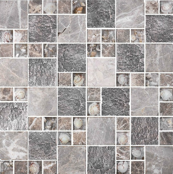 Resin mosaic tile, glass stone blend resin mosaic tiles bathroom RNMT004 modern-mosaic-tile